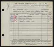 Entry card for Sill, Edward for the 1948 May Show.