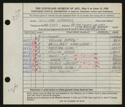 Entry card for Sommer, William for the 1948 May Show.