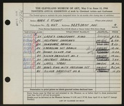 Entry card for Stumpf, Marie E. for the 1948 May Show.