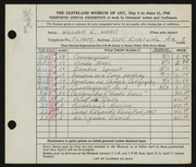 Entry card for Ward, William E. for the 1948 May Show.