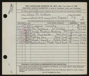 Entry card for Wilkens, Lillian M. for the 1948 May Show.