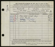 Entry card for Woide, Robert E. for the 1948 May Show.