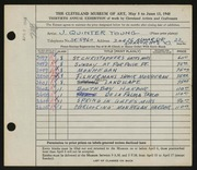 Entry card for Young, Jay Quinter for the 1948 May Show.