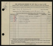 Entry card for Adomeit, George G. for the 1949 May Show.