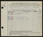 Entry card for Bachtel, Clayton J. for the 1949 May Show.