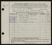 Entry card for Blaha, Josef James for the 1949 May Show.
