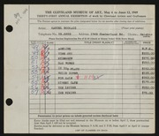 Entry card for Bookatz, Samuel for the 1949 May Show.