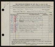 Entry card for Bryson, Marion Camp for the 1949 May Show.