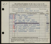 Entry card for Burr, Dane for the 1949 May Show.