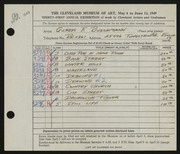 Entry card for Buschmann, Gladys F. for the 1949 May Show.