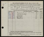 Entry card for Curtis, Floyd Edward for the 1949 May Show.