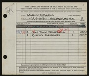Entry card for De Marco, Marco for the 1949 May Show.