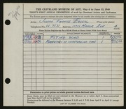 Entry card for Ersek, Joseph Francis for the 1949 May Show.