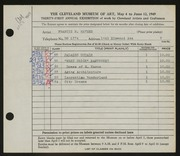 Entry card for Haynes, Francis H. for the 1949 May Show.