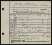 Entry card for Hewit, Mabel A. for the 1949 May Show.