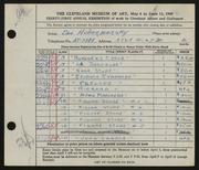 Entry card for Hodermarsky, Daniel for the 1949 May Show.