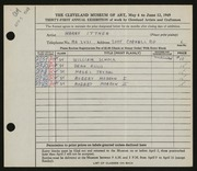 Entry card for Ittner, Harry for the 1949 May Show.