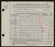 Entry card for Jeffery, Charles Bartley, and Wooddell, Joseph M. for the 1949 May Show.