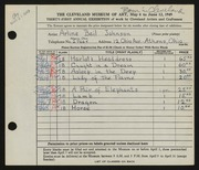 Entry card for Johnson, Arline Beil for the 1949 May Show.