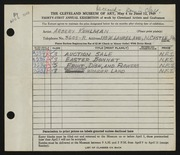 Entry card for Kuhlman, Arbery Wendelburgh for the 1949 May Show.