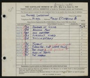 Entry card for Landesman, Geoffrey for the 1949 May Show.