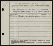 Entry card for Mally, Johanna F. for the 1949 May Show.