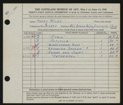 Entry card for Miles, Harry for the 1949 May Show.
