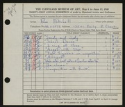 Entry card for Mitchell, Rose for the 1949 May Show.
