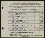 Entry card for Morrison, Doris C., and Morrison, Robert F. for the 1949 May Show.