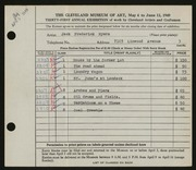 Entry card for Myers, Jack Frederick for the 1949 May Show.