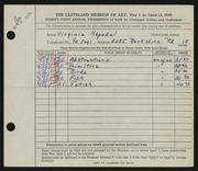 Entry card for Nepodal, Virginia for the 1949 May Show.
