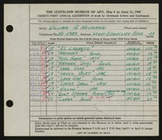 Entry card for Neumann, William A. for the 1949 May Show.