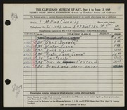 Entry card for Owensby, L. Millard for the 1949 May Show.