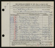 Entry card for Peck, Edith Hogen, and Pavlick, Charles John for the 1949 May Show.