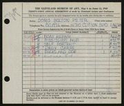 Entry card for Peter, Doris Bolton for the 1949 May Show.