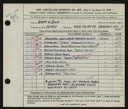 Entry card for Rood, Henry A., and Mosgo, Charles Francis for the 1949 May Show.