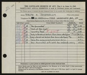 Entry card for Rosenblum, Ralph H. for the 1949 May Show.