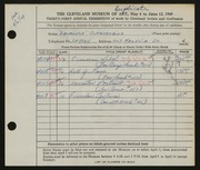 Entry card for Schmeckebier, Laurence Eli for the 1949 May Show.