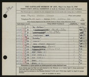 Entry card for Sloane, Phyllis for the 1949 May Show.