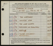 Entry card for Smith, Dorman H. (Dorman Henry) for the 1949 May Show.