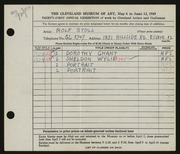 Entry card for Stoll, Rolf for the 1949 May Show.