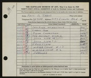 Entry card for Travis, Paul Bough for the 1949 May Show.