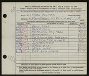 Entry card for Volper, Israel for the 1949 May Show.