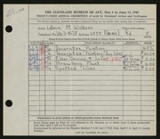 Entry card for Wilkens, Lillian M. for the 1949 May Show.