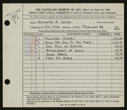 Entry card for Wood, Kenneth A. for the 1949 May Show.