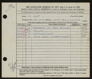 Entry card for Zapp, M. for the 1949 May Show.