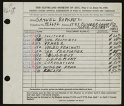 Entry card for Bookatz, Samuel for the 1951 May Show.