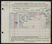 Entry card for Bulone, Joseph  for the 1951 May Show.