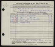 Entry card for Burton, Jack Munson for the 1951 May Show.