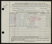 Entry card for Caldwell, Kenneth Roy for the 1951 May Show.